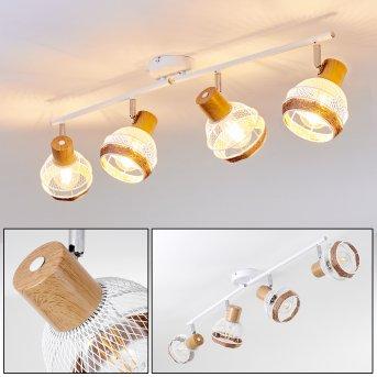 Bariloche Lámpara de Techo Cromo, Blanca, 4 luces