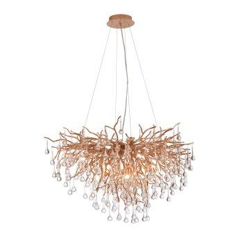 Paul Neuhaus ICICLE Lámpara de araña Latón antiguo, 10 luces