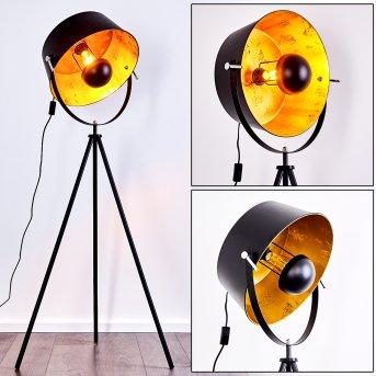 Jupiter Lámpara de Pie Negro-dorado, 1 luz