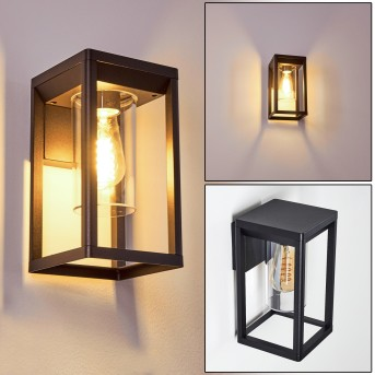 Baoshan Aplique para exterior Negro, 1 luz