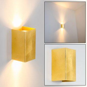 Matera Aplique dorado, 2 luces