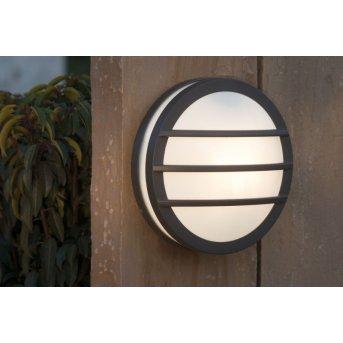 Lutec SEINE Aplique para exterior Antracita, 1 luz