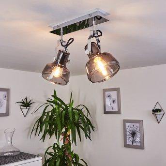 Lulea Lámpara de Techo Cromo, 2 luces