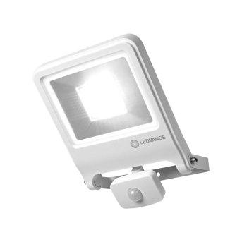 LEDVANCE POLYBAR Aplique para exterior Blanca, 1 luz, Sensor de movimiento