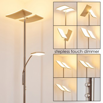 Thyolo Lámpara de Pie LED Acero bruñido, 2 luces