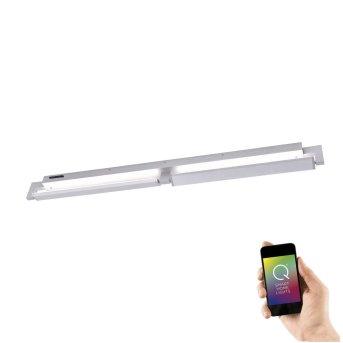 Lámpara de techo e Pared Paul Neuhaus Q-Matteo LED Aluminio, 2 luces, Mando a distancia