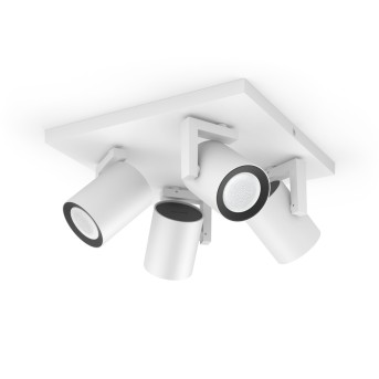 Philips Hue Ambiance White & Color Argenta Extensión spot de pared/techo Blanca, 4 luces, Cambia de color
