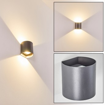 Vikom Aplique para exterior LED Antracita, 2 luces