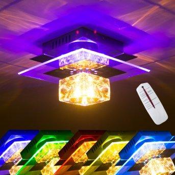 Christy Aplique Cromo, Transparente, claro, 1 luz, Cambia de color