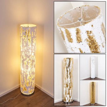 Sjaelland Lámpara de Pie dorado, 2 luces