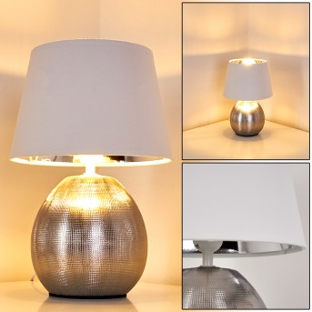Stampa Lámpara de Mesa Plata, 1 luz
