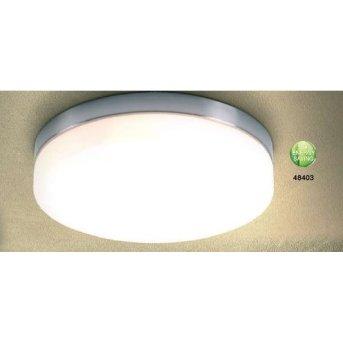Globo OPAL Lámpara de techo Níquel-mate, Acero inoxidable, Blanca, 3 luces