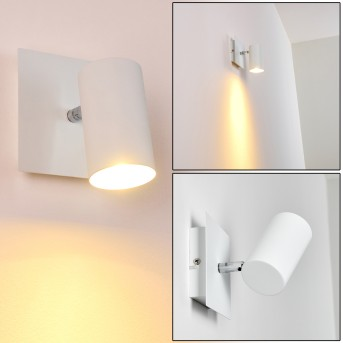 Zuoz Foco de pared Blanca, 1 luz