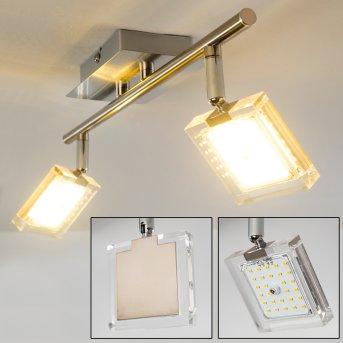 Kiruna Lámpara de Techo LED Níquel-mate, Cromo, 2 luces