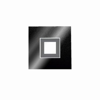 Grossmann KARREE Lámpara de techo o pared LED Negro, Titanio, 1 luz