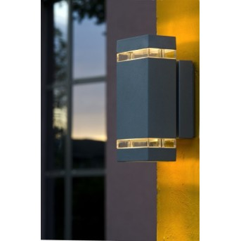 Lutec Lampen Focus Aplique para exterior Antracita, 2 luces