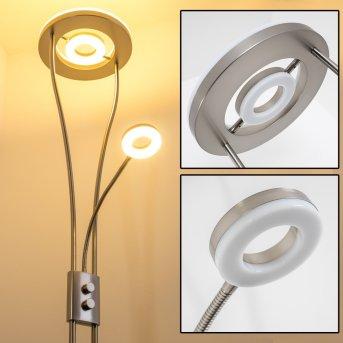 Watino Lámpara de pie LED Níquel-mate, 3 luces