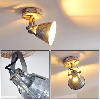 Berkeley Lámpara de Techo Madera clara, Galvanizado, 1 luz