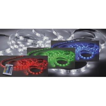 Paul Neuhaus TEANIA Tira LED Colorido, 1 luz, Mando a distancia, Cambia de color