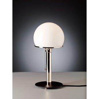 Tecnolumen Wagenfeld 23 Lámpara de mesa Níquel-mate, Negro, 1 luz