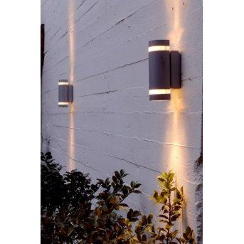 Lutec FOCUS Aplique para exterior Antracita, 2 luces