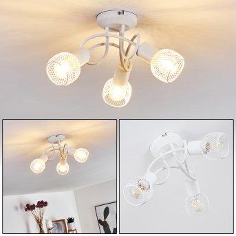 Cairns Lámpara de Techo Blanca, 3 luces