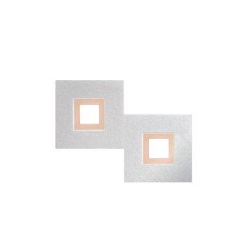 Grossmann KARREE Lámpara de Techo LED Aluminio, Cobre, 2 luces