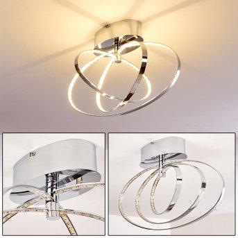Ringos Lámpara de techo LED Cromo, 1 luz