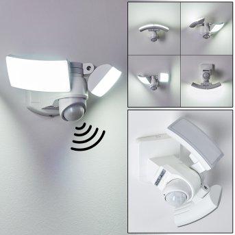 Foroyar Aplique para exterior LED Blanca, 2 luces, Sensor de movimiento