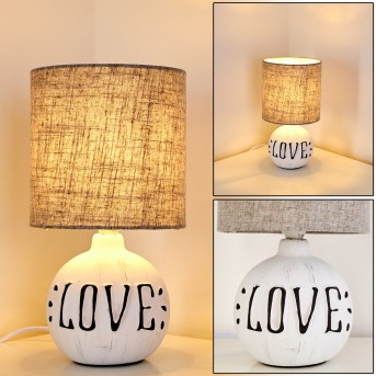 Seon LOVE Lámpara de Mesa Blanca, 1 luz