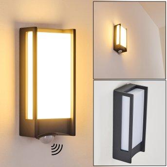 Aplique para exterior Skove LED Antracita, 1 luz, Sensor de movimiento