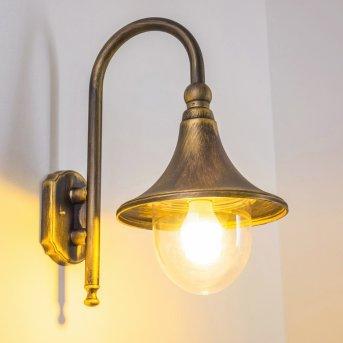 Elgin Aplique para exterior Negro-dorado, 1 luz