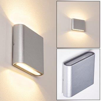 Tinglev Aplique para exterior LED Plata, 2 luces