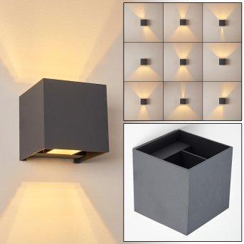 Badajoz Aplique LED Antracita, 1 luz