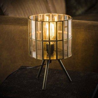 OUDESTOIF Lámpara de Mesa Transparente, claro, 1 luz