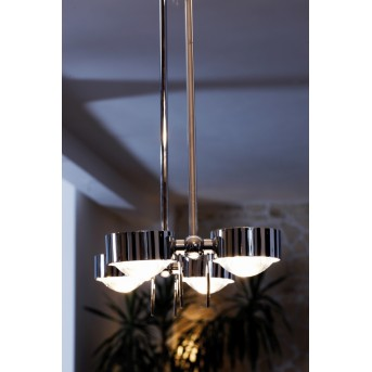 Puk Ceiling Sister Twin 125 cm LED Cromo, 8 luces
