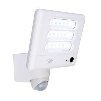 Lutec ESA Lámpara con cámara LED Blanca, 1 luz, Sensor de movimiento