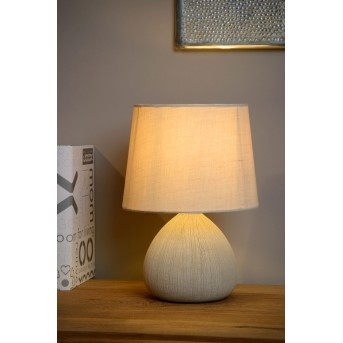 Lucide RAMZI Lámpara de escritorio Beige, 1 luz
