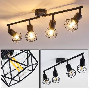 Baripada Lámpara de Techo Negro, 4 luces