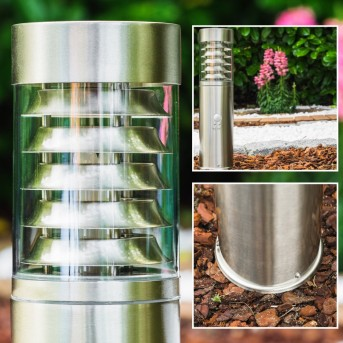 Dakar Poste de jardin Acero inoxidable, 1 luz, Sensor de movimiento
