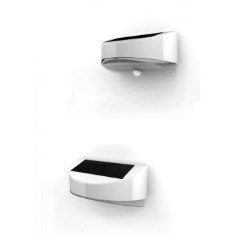 Lutec BREAD Aplique para exterior LED Plata, 1 luz, Sensor de movimiento
