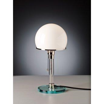 Tecnolumen Wagenfeld 24 Lámpara de mesa Níquel-mate, Transparente, claro, 1 luz