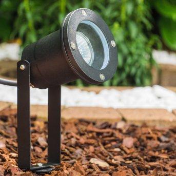 Pilsen Foco proyector jardin Negro, 1 luz