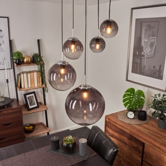 Lámpara Colgante Degevos Cromo, 5 luces