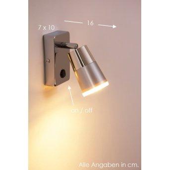Leuchten-Direkt DALLI Aplique LED Cromo, 1 luz