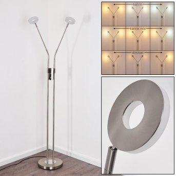 Gulkana Lámpara de Pie LED Níquel-mate, 2 luces