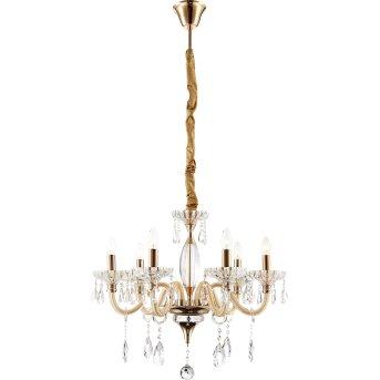 Globo MELISSA Lámpara de araña dorado, 6 luces