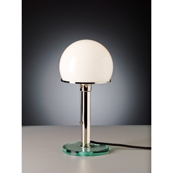 Tecnolumen Wagenfeld 25 Lámpara de mesa Níquel-mate, Transparente, claro, 1 luz