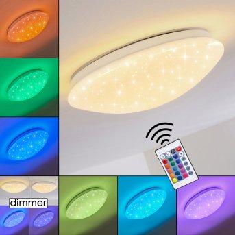 Norton Star Lámpara de Techo LED Blanca, 1 luz, Mando a distancia, Cambia de color