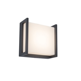 Lutec QUBO Aplique para exterior Antracita, 1 luz